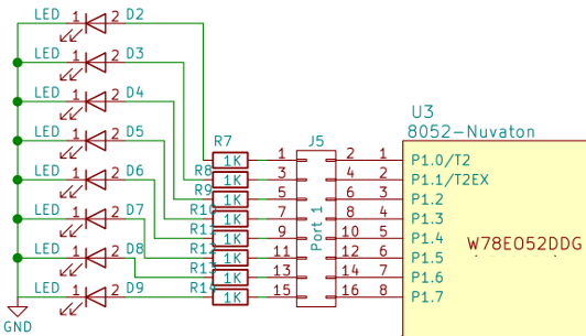 circuit for 8051 port programming