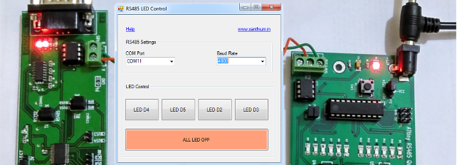 ATtiny PC RS485 communication software in CSharp dot net framework