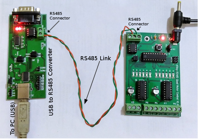 ATtiny RS485 interfacing project