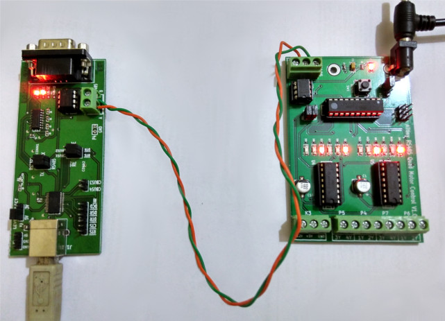 ATtiny LED RS485 control Home automation