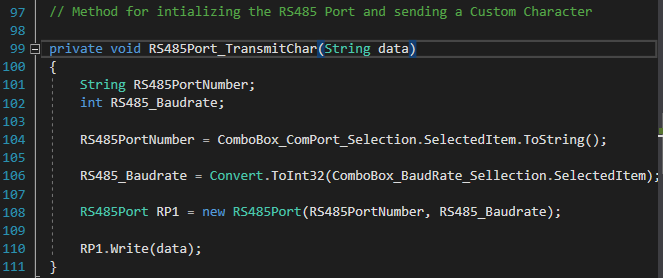 C# RS485 Port Programming for dot net framework