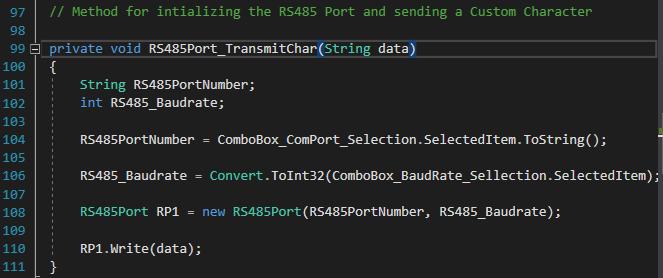 C# RS485 Port Programming for dot net framework