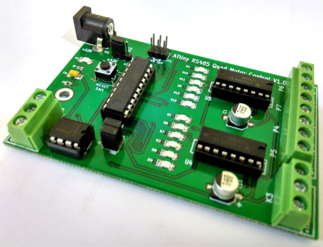 ATtiny2313 Development Board with Stepper Motor Control and RS485 communication port