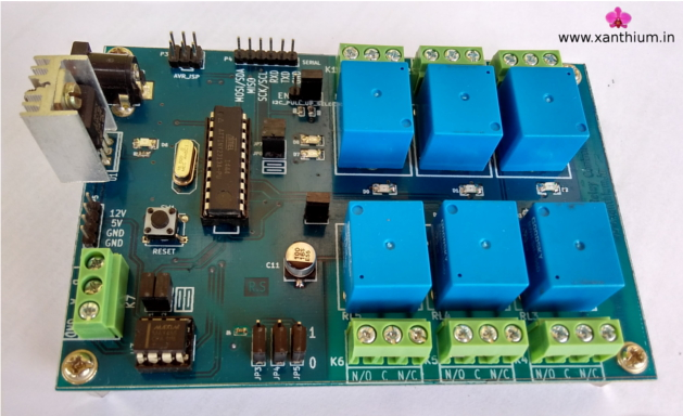i2c controlled 6 channel relay board for arduino