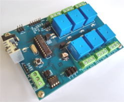 RS485/Serial(SPI,I2C) controlled 6 channel relay board for Arduino
