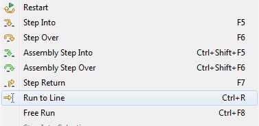 single stepping through msp430 code in code composer studio debug mode