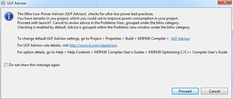 ultra low power advisor in code composer studio