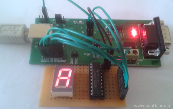 lt543 7 segment LED Display  interfaced with FT232 usb to serial converter using D2XX library