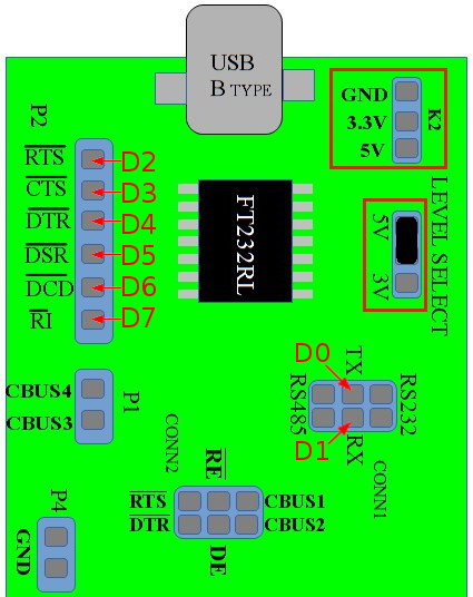 pin configeration of USB2SERIAL
