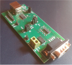 photo of usb to serial converter based on FT232 from FTDI