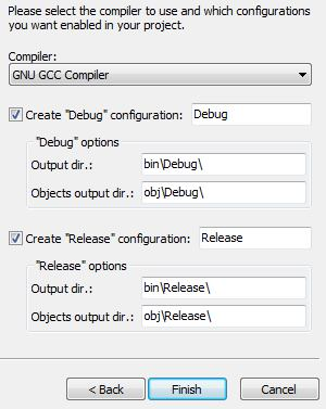 Code ::Blocks compiler selection window