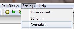 settings compiler