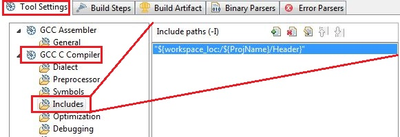 Adding paths to include the header files in eclipse
