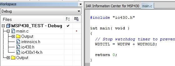 IAR EW default c file