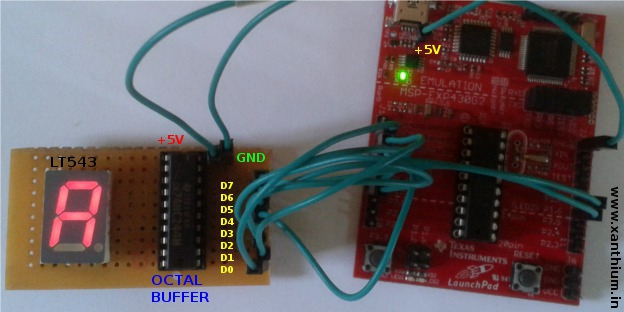 Connecting the msp430 with 7 segment display
