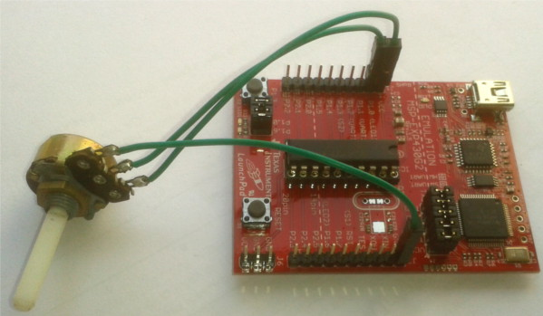 interfacing a potentiometer with msp430 launchpad