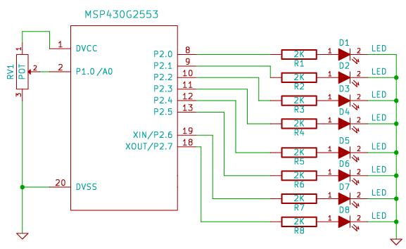 ADC10 Tutorial for MSP430 Launchpad | xanthium enterprises