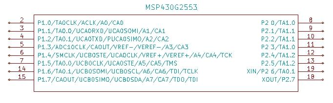 Programming the ports of MSP430G2xxx