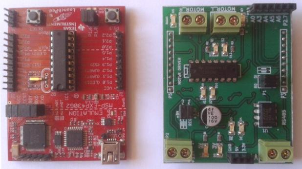 Controlling DC motors using MSP430 Launchpad and L293D