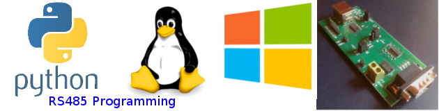 cross-platform RS485 programming on windows and linux using Python