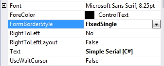 changing the border  style of program window to fixed in C#