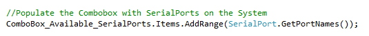 detecting serial ports programmatically using C# and dot net framework on Windows