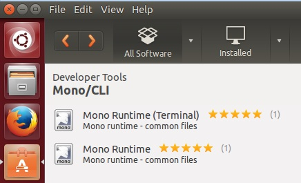 installing mono runtime and mcs compiler from ubuntu software center