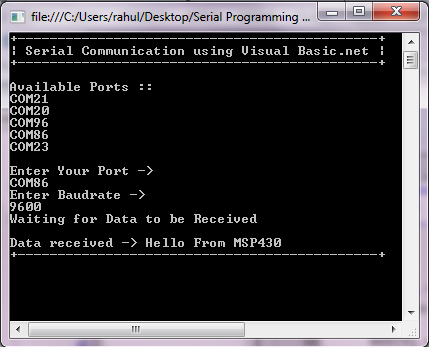 reading a serial port using vb.net