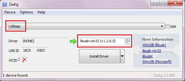 USBasp Driver Configuration Tutorial | xanthium enterprises