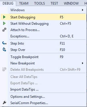 debugging a c Project in visual studio
