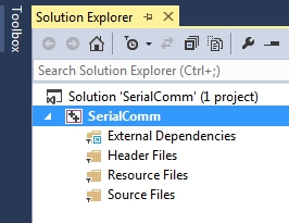 solution explorer in visual studio