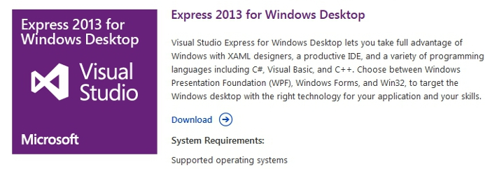 downloading visual studio 2013